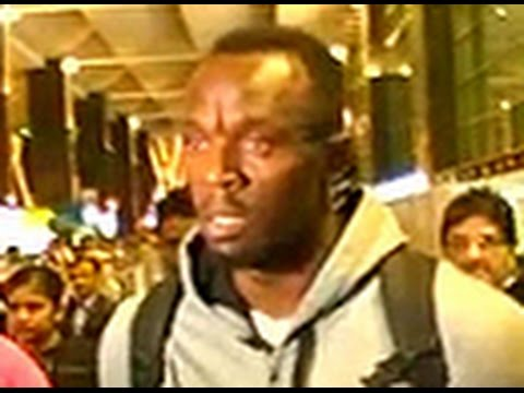 Usain Bolt arrives in India