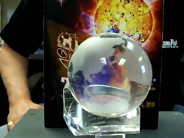 Cardinal Crystal Globe
