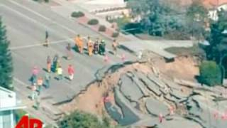 Video Clips Dump Road Collapse In San Diego