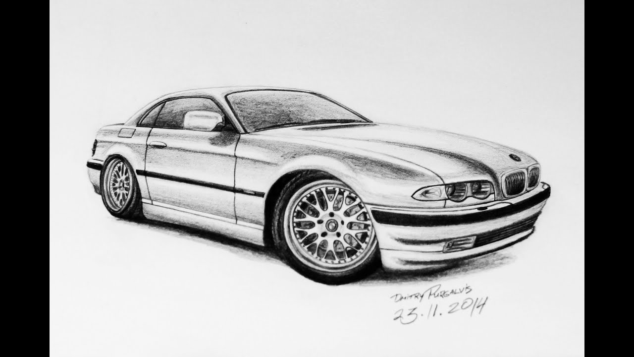 Drawing bmw e38 sport coupe concept youtube