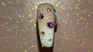 How to: Ombré nail/Swarovski Caviar Nail Art