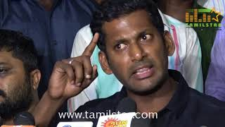 Vishal Press Meet Regards Producer Ashok Kumar Death