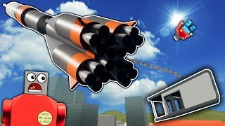 Idiots Try to Send a House to Space! - Brick Rigs Roleplay Gameplay - Lego City Astronaut Job