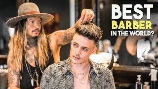 BEST BARBER IN THE WORLD 2018 | Amazing Hairstyle and Experience | BluMaan 2018