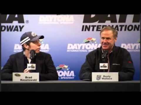 Brad Keselowski and Rusty Wallace at Daytona Test NASCAR Video