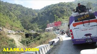 DRIVING TOWARDS KATHMANDU NEPAL