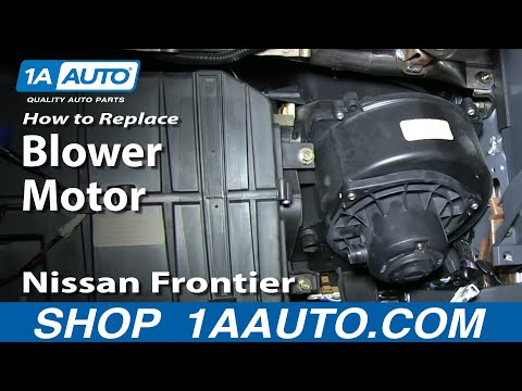 How To Install Replace AC Heater Blower Fan Motor 2000-04 Nissan Frontier