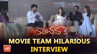 Kanchana 3 Movie Team Hilarious Interview | Raghava Lawrence | Oviya | Vedika