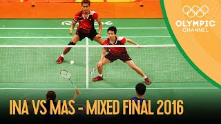 Badminton Mixed Doubles Gold Medal Match 🇮🇩🆚🇲🇾 | Rio 2016 Replays