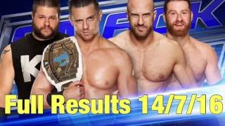 WWE SmackDown 14/7/16 FULL RESULTS: