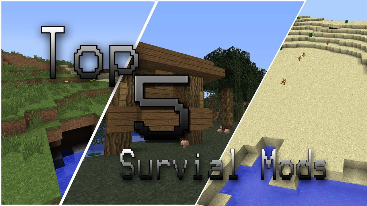 MinecraftTop 5 Survival Mods YouTube