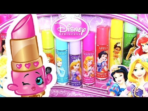 Lippy Lips Shopkin Taste-Tests 10 Disney Princess Lip Glosses! Funny Shopkins Video