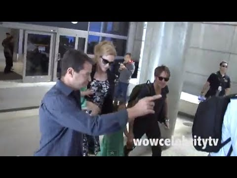 Nicole Kidman and Keith Urban arrive back to lax after trip to Australia