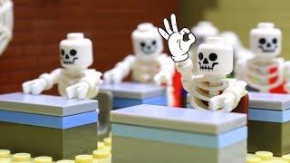 LEGO Skeleton & Hulk School Fail! Transformers Bumblebee Movie assembly robot car toys