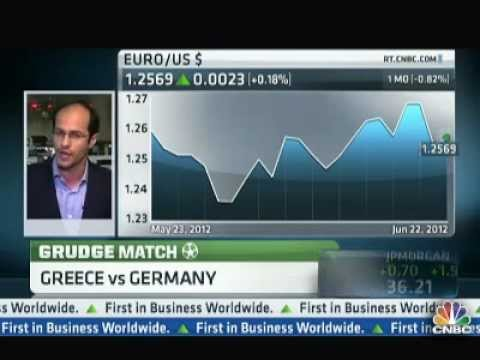 Ashraf Laidi on CNBC About Football & the Eurozone - June 22, 2012 Chart