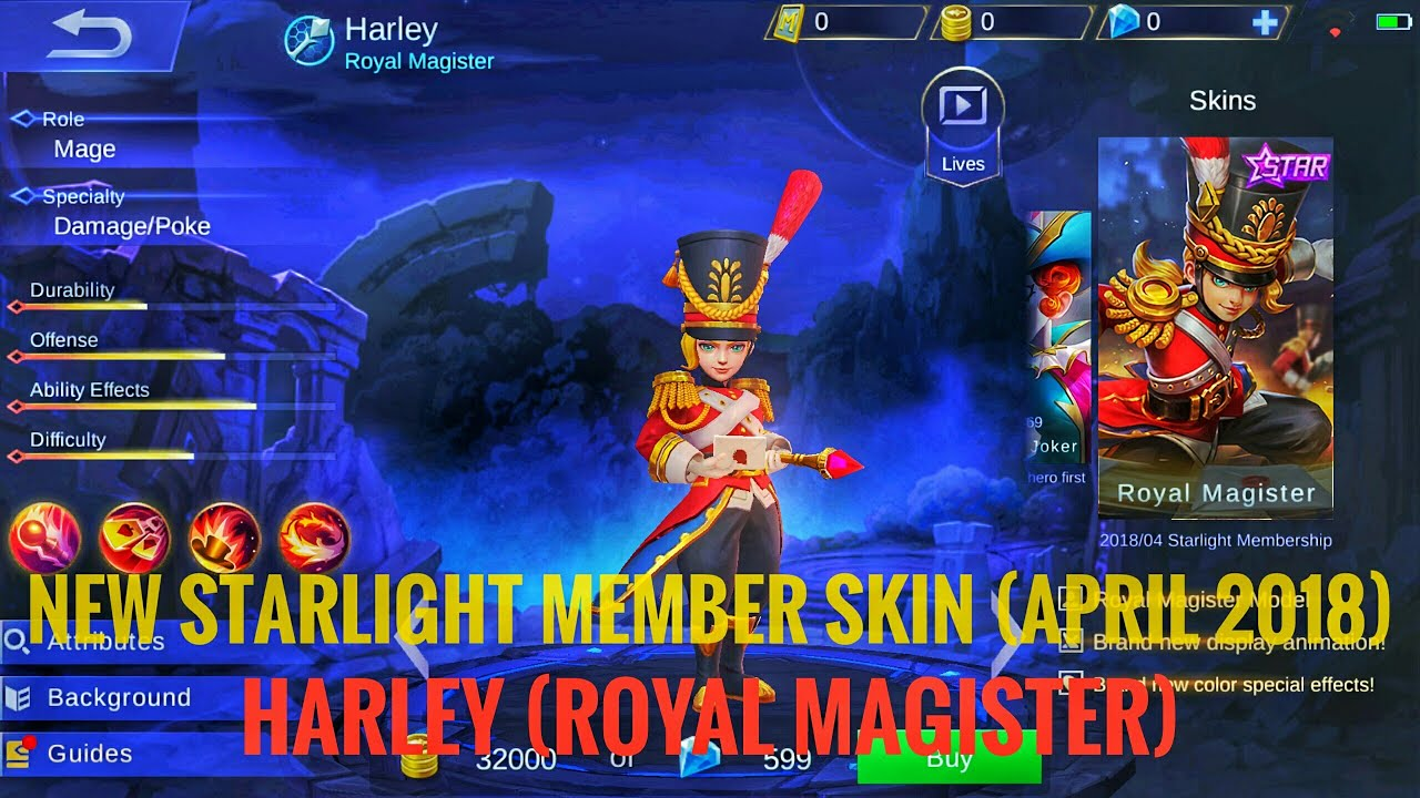 [Gameplay]Mobile Legends: Bang Bang - [NEW]Upcoming Harley Skin (Royal Magister)
