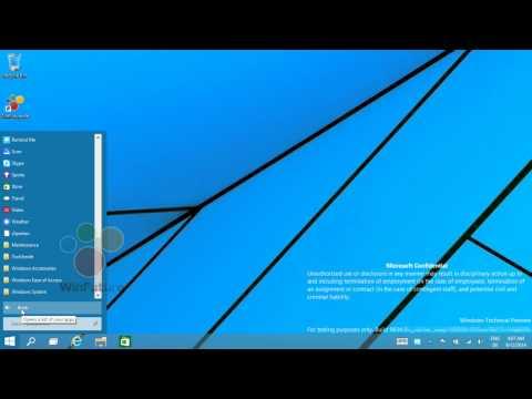Windows 9: Startmenü geht auch ganz ohne Live Tiles