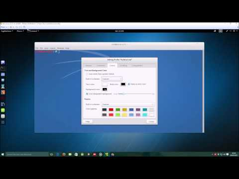 Change Terminal Color and Font Size in Kali Linux