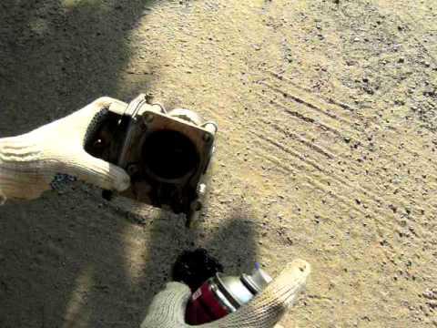 Чистка дроссельной заслонки Nissan Note, видео!