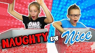 NAUGHTY vs. NICE Christmas Present Challenge!!!