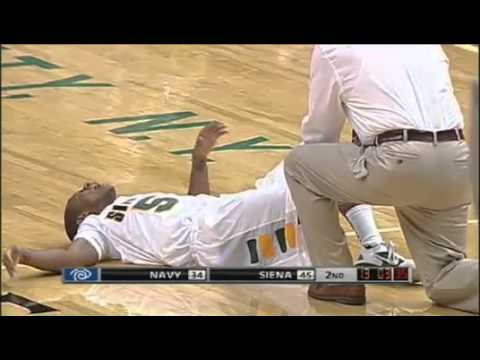 November 16 Navy @ Siena - Evan Hymes Injury