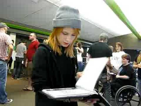 giving Hayley Williams LJ scrapbook Video