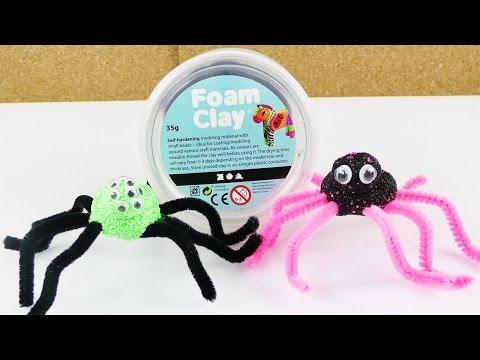 Wolkeschleim Spinnen für Halloween | Coole Deko Idee | Gruselige Spinnen als Party Deko