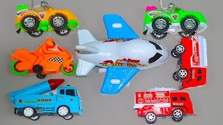 Learning Street Vehicles Names & Colors for Kids Children & Toddlers - Toy Learn to Number Counting