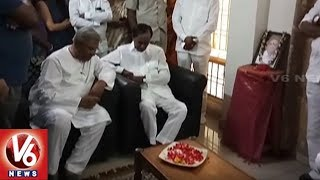 CM KCR Visits Retired Chief Engineer Shyam Prasad Reddy Residence, Pays Tributes To His Son News