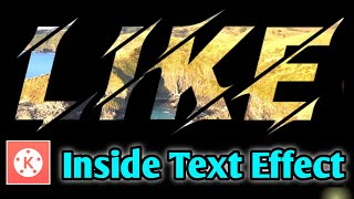 KineMaster video in text effect | Video Inside Text | kinemaster video editor tutorial in 2020