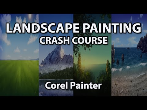 Landscape Painting - FREE Course for Corel Painter (Digital Painting)