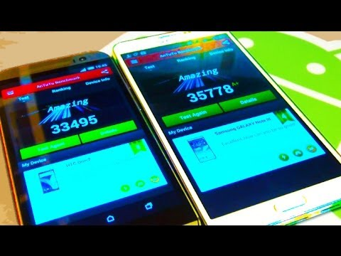 HTC ONE M8 v Samsung Galaxy Note 3 Benchmark Tests!