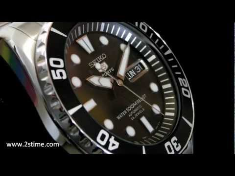 2S Time : SEIKO SNZF17K1 Automatic Divers 23 Jewels 100m Submariner Black Bezel