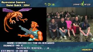 Contra III: The Alien Wars :: Live SPEED RUN (0:15:35) [SNES] by Mr K #AGDQ 2014