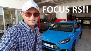 Picking up my new Ford Focus RS