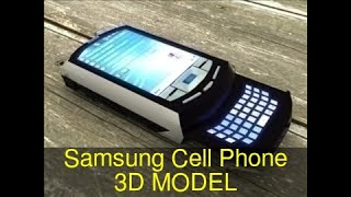 3D Model of Samsung Cell Phone Review