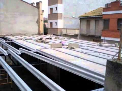 Techos de teja con estructura metalica