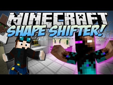 Minecraft SHAPE SHIFTER Morph into ANY Mob EVER Mod Showcase 1.6.2