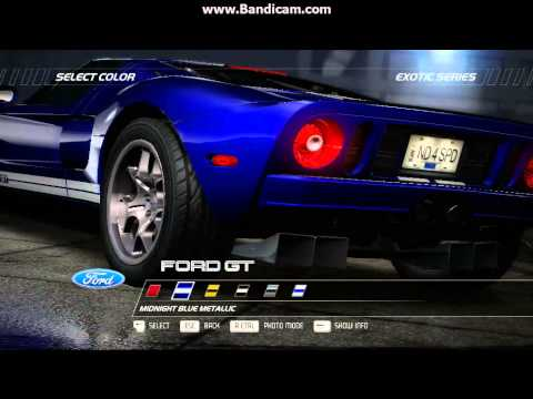 Need for Speed Hot pursuit 2010 car list and start up sounds