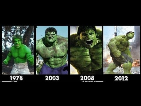Hulk Transformation Movies -1978-2003-2008-2012- [hulk Transformation]- Compilation video