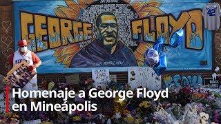 Homenaje a George Floyd en Minepolis