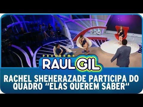 Programa Raul Gil (13/12/14) - Rachel Sheherazade participa do quadro