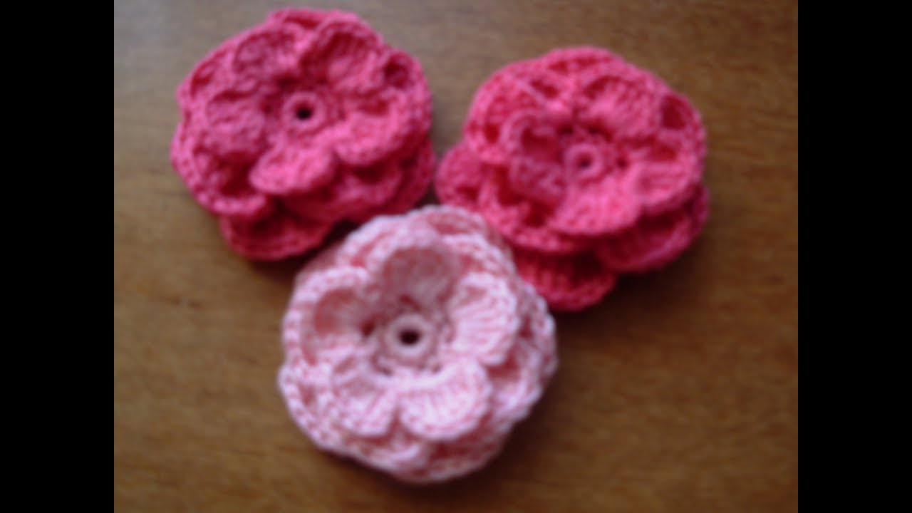 Цветок крючком с лепестками фото