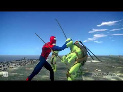 Teenage Mutant Ninja Turtles VS SPIDERMAN - Sensational Spider-Man