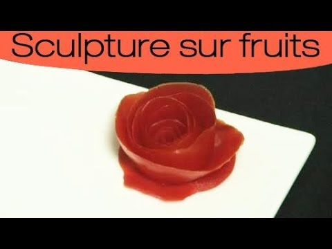 D coration culinaire sculpter une rose avec une tomate - Decoration maison avec tomettes ...