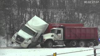 1-20-16 Crossville, TN I-40 Winter Storm
