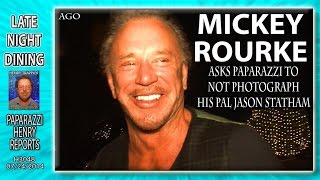 Mickey Rourke asks paps to not shoot pal Jason Statham