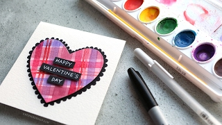 DIY Easy Valentine's Day Card with Minimal Supplies #2 (2017 Miniseries)
