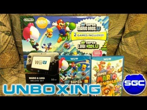 Mario & Luigi Wii U Deluxe Bundle Unboxing