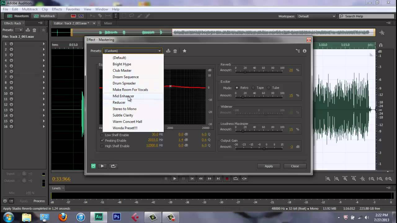 ADOBE AUDITION CS6 - Mixing Rap Vocals (2013)